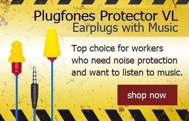 Plugfones Contractor VL Earplugs with Music