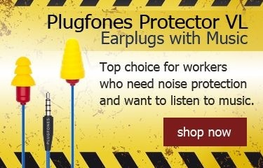 Plugfones Contractor VL Earplugs with Music